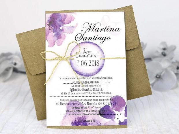 invitacion boda 2018 acuarela 620x465 5 Tendencias de Invitaciones de Boda 2018