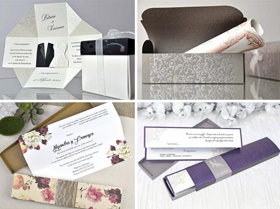 invitaciones boda cajas 5 Tendencias de Invitaciones de Boda 2018