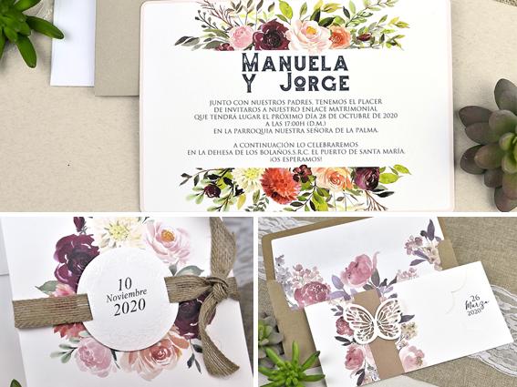 invitaciones boda flores 5 Tendencias de Invitaciones de Boda 2018