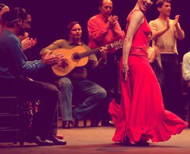 grupo de rumba con flamenca
