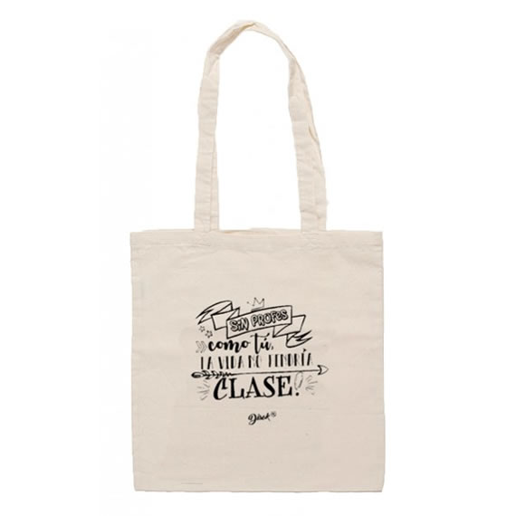 bolsa yute profes para regalar como detalle para profes fin de curso Porque nuestros profesores se lo merecen todo